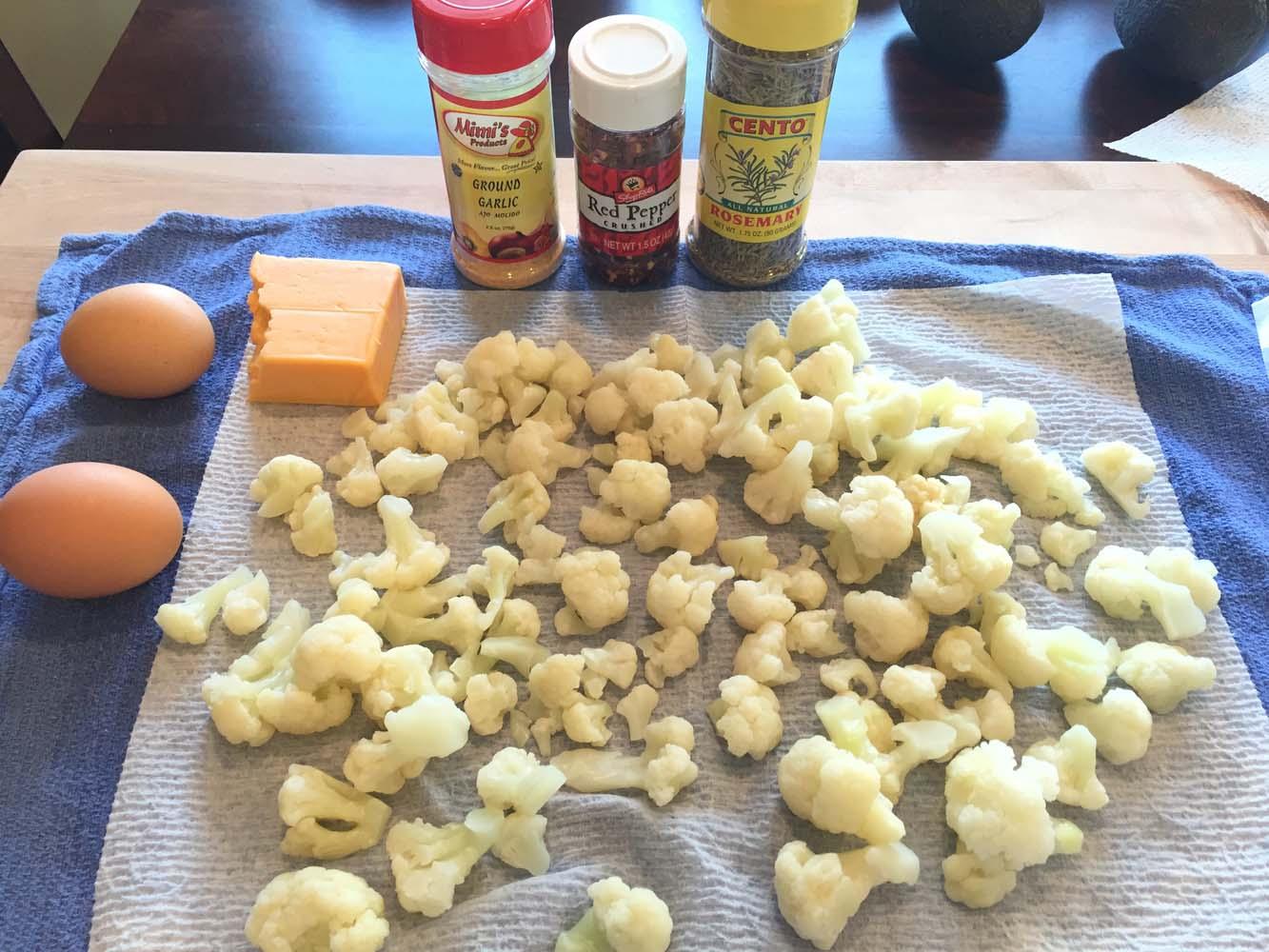 Cauliflower Crust Pizza Ingredients