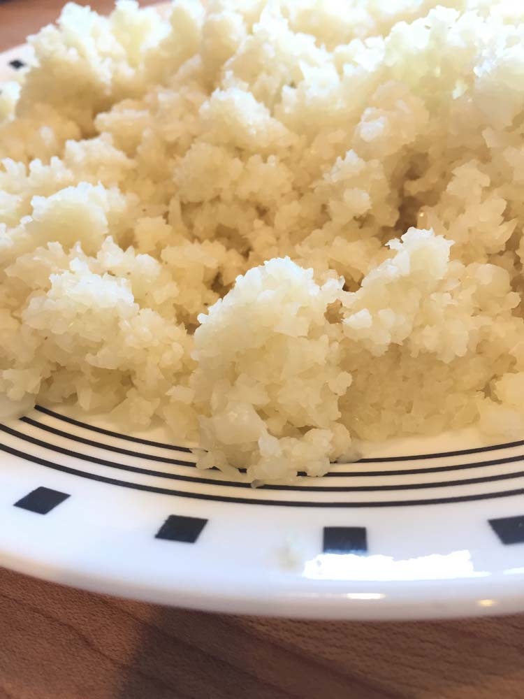 Riced Cauliflower Closeup