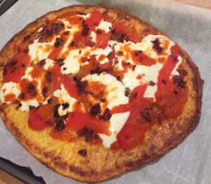 Finished Cauliflower Crust Pizza
