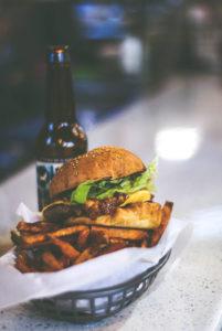 Burger Fries and Beer - American Diet