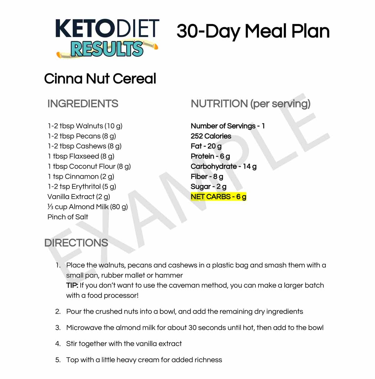 Lose Weight with This 30-Day Keto Meal Plan! - Keto Diet Results